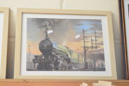 """Framed print """"The Yorkshire Pullman"""" by Philip D Hawkins FGRA No 126 out of 950, signed lower left"""