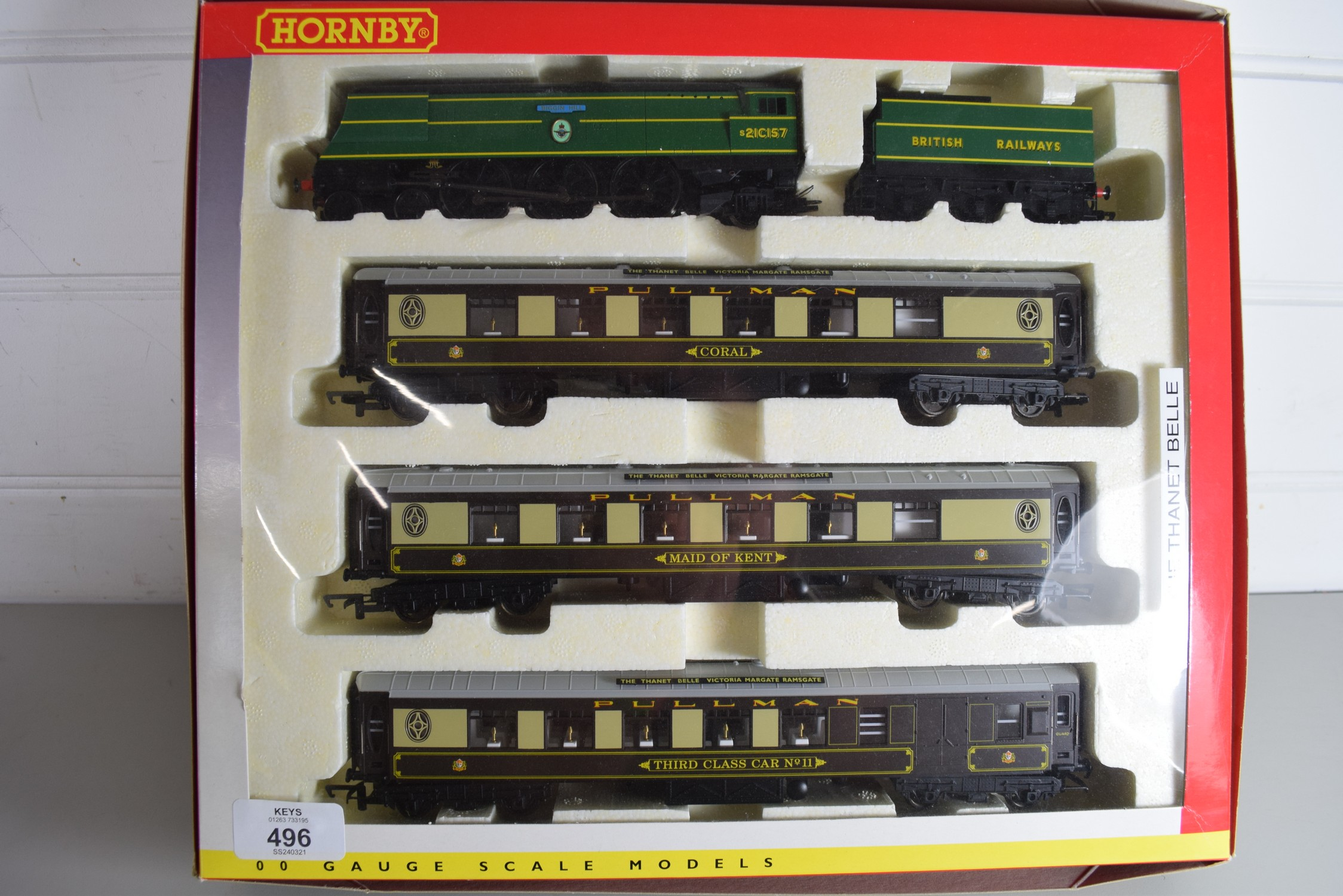 """Boxed Hornby 00 gauge """"The Thanet Belle"""" set"""