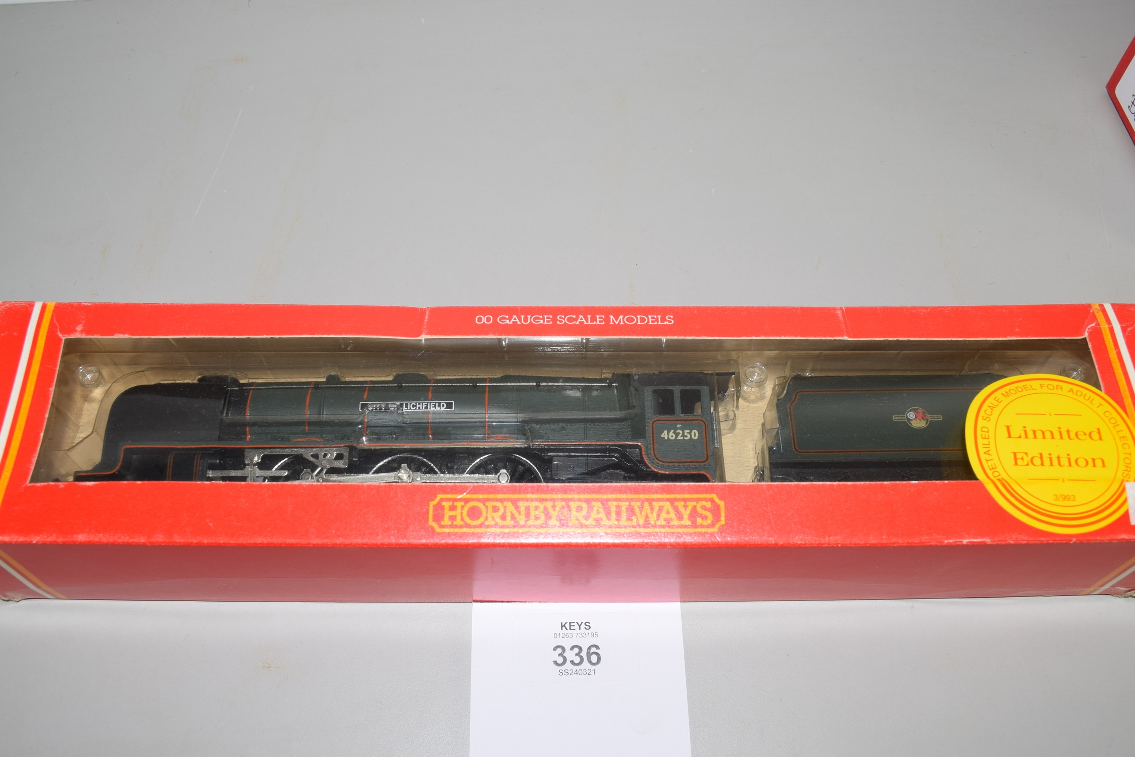 """Boxed Hornby 00 gauge """"City of Litchfield"""" No 46250"""