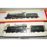 "Boxed Hornby 00 gauge R2850 late BR Castle class ""Ince Castle"" locomotive No 7034"