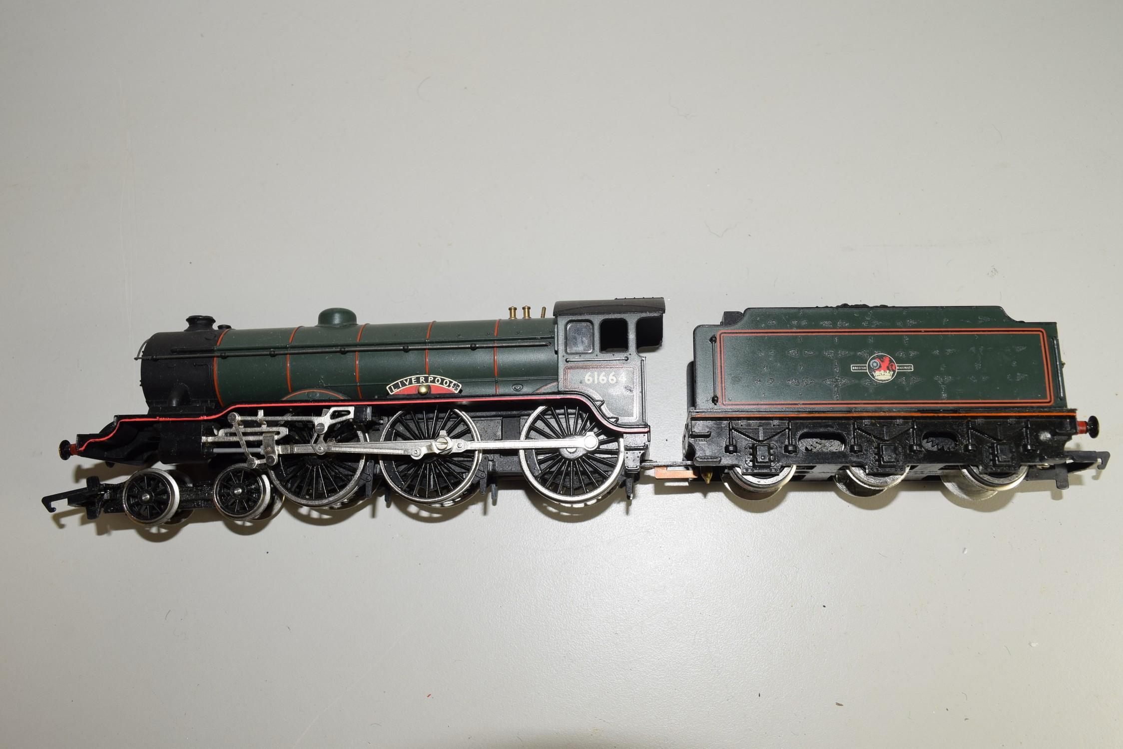 "Unboxed Hornby 00 gauge ""Liverpool"" locomotive no 61664"
