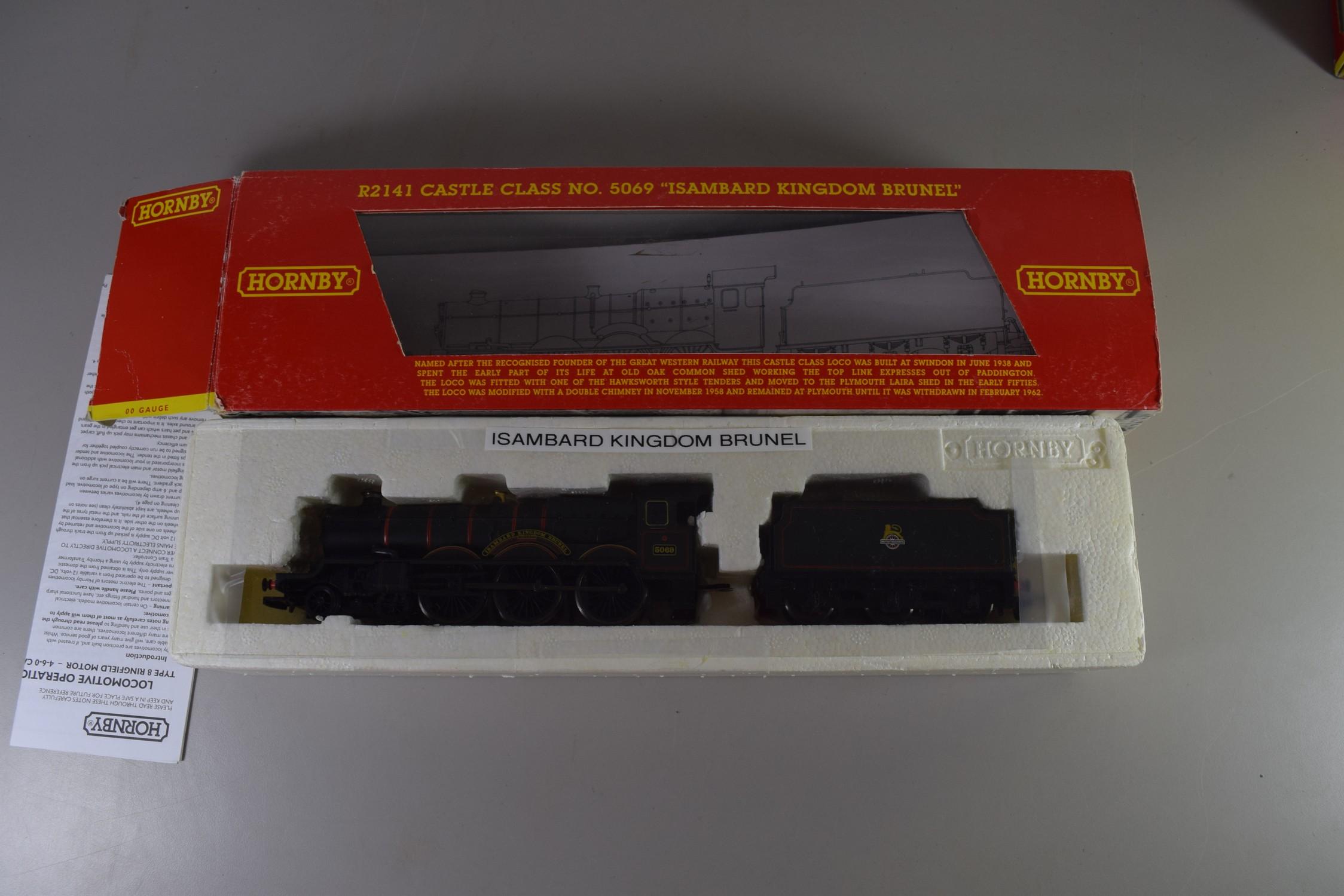 "Boxed Hornby 00 gauge R2141 BR 4-6-0 Castle class ""Isambard Kingdom Brunel"" locomotive No 5069"