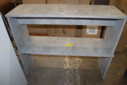 TWO DINING TABLE BENCHES, WIDTH 110CM (A/F)