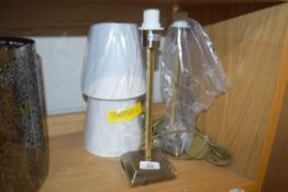 PAIR OF 43CM TABLE LAMPS AND SHADES