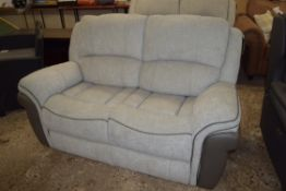 COWLING TWO-SEATER RECLINING SOFA, GREY