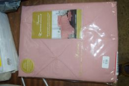 BARNSLEY 180 THREAD COUNT PERCALE DUVET COVER SET, DOUBLE, WITH TWO PILLOWCASES, SOFT PINK