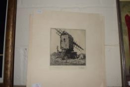 TWO ENGRAVINGS BY STARLING, ONE OF GARBOLDISHAM MILL, THE OTHER OF THE MILL AT THURNE