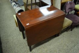 STAINED WOOD DROP LEAF TABLE, WIDTH APPROX 88CM