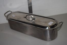 METAL CASSEROLE AND COVER