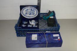BOX CONTAINING MINIATURE TEA SET IN ORIGINAL BOX ETC