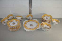 QTY OF TEA WARES BY TUSCAN CHINA