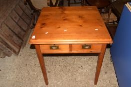 SMALL SQUARE TABLE WITH DRAWERS BENEATH, APPROX 70CM