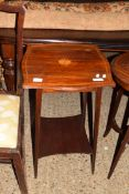 SMALL INLAID OCCASIONAL TABLE, APPROX 43CM SQ
