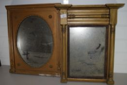 TWO MIRRORS IN GILT STYLE FRAMES