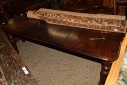 19TH CENTURY MAHOGANY WIND-OUT DINING TABLE, APPROX 99 X 174CM