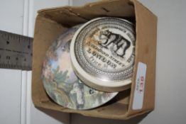 BOX CONTAINING TWO POT LIDS