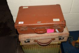 TWO SMALL VINTAGE SUITCASES
