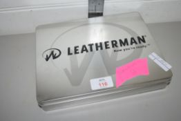 METAL BOX CONTAINING LEATHERMAN WORKING TOOLS
