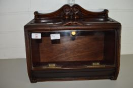 SMALL WOODEN DISPLAY CASE WITH GLASS FRONT