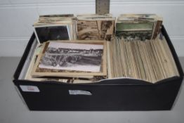 EXTENSIVE QTY OF POSTCARDS, SOME PHOTOGRAPHIC, MAINLY TOPOGRAPHICAL