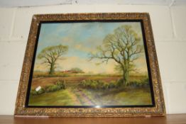 OIL ON BOARD, COUNTRY LANDSCAPE, SIGNED M ARNOLD, APPROX 45 X 55CM