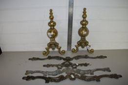 QTY OF BRASS FIRESIDE IMPLEMENTS