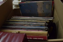 BOX CONTAINING 33RPM RECORDS, MOSTLY EASY LISTENING, ANDY WILLIAMS, HARRY SECOMBE ETC