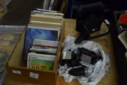 """BOX CONTAINING 7"""" RECORDS, PLUS CDS"""