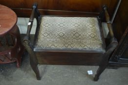 UPHOLSTERED PIANO STOOL