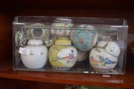 QTY OF VARIOUS JAPANESE EXPORT GINGER JARS