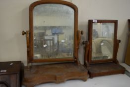 TWO VINTAGE SWING MIRRORS