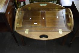 TRAY TOPPED COFFEE TABLE, LENGTH APPROX 71CM