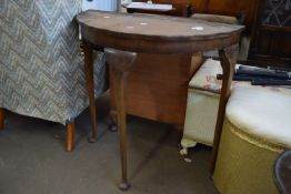 SMALL DEMI-LUNE SIDE TABLE, WIDTH APPROX 74CM