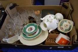 BOX CONTAINING MIXED GLASS WARES