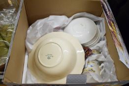 BOX CONTAINING HOUSEHOLD CERAMICS INCLUDING MEAKIN ETC