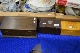 THREE VARIOUS WOODEN BOXES