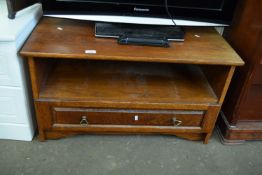 STAINED WOOD TV CABINET, WIDTH APPROX 86CM
