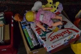 BOX OF VARIOUS DVDS AND GAMES
