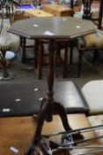 SMALL OCTAGONAL TABLE, WIDTH APPROX 35CM