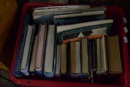 BOX CONTAINING REFERENCE BOOKS INCLUDING ENCYCLOPAEDIAS ETC