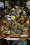 TRAY OF MIXED ORNAMENTAL FIGURES