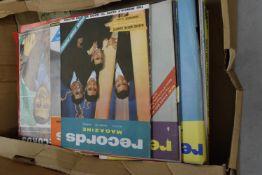 BOX OF VINTAGE RECORD MAGAZINES