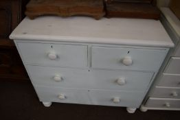 PAINTED WOOD CHEST OF DRAWERS, WIDTH APPROX 93CM
