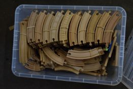 ONE BOX OF WOODEN BRIO TYPE TRAIN SET