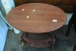 SMALL OVAL MAGAZINE RACK/TABLE, LENGTH APPROX 60CM