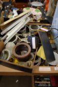BOX CONTAINING MIXED METAL POTS ETC