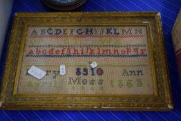 FRAMED SAMPLER DATED 1863