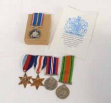 WWII and National Service medal group comprising 1939-45 Star, France and Germany Star, 1939-45