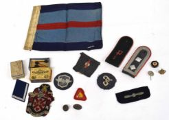 Quantity of 20th century Third Reich insignia: Oberfeldwebel (Master Sgt) shoulder board for Anti-