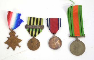 Quantity of four medals to include 1914-15 Star impressed to C.1772.A. Taylor. L.SMN. Royal Naval